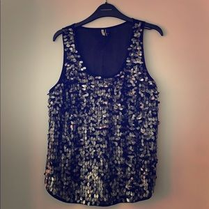 Size 2 sequence Topshop top with sheer back